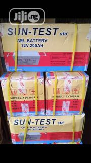12volts 200amphs Sun-test Battery With 1yr Warranty | Solar Energy for sale in Lagos State, Ojo