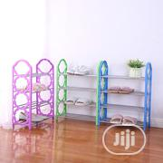 New 4layer Iron Shoe Rack Multi-purpose Cabinet Hangers | Home Accessories for sale in Lagos State, Ikeja