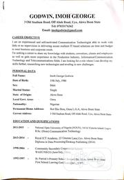 Administration CV | Clerical & Administrative CVs for sale in Akwa Ibom State, Uyo