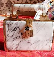 Golden And White Purse With A Touch Black | Bags for sale in Anambra State, Awka