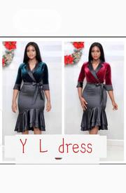 New Lady Vneck Flare Gown | Clothing for sale in Lagos State, Ikoyi