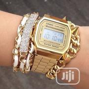 Casio Wristwatch + Free Bracelet for Ladies | Jewelry for sale in Lagos State, Gbagada