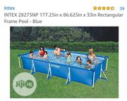 INTEX 28273NP 177.25in X 86.625in X 33in Rectangular Frame Pool - Blue | Sports Equipment for sale in Lagos State, Amuwo-Odofin