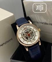 Top Quality Emperio Armani Designer Leather Wrist Watch | Watches for sale in Lagos State, Magodo