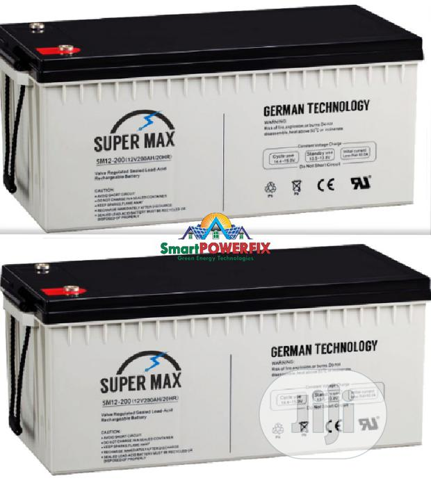 2units Of Super Rugged Supermax German Batteries