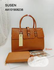 New Females Susen Leather Brown Handbag | Bags for sale in Lagos State, Ikoyi