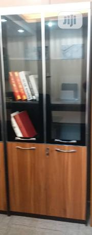 2door Wood And Glass Bookshelf | Furniture for sale in Lagos State, Lekki Phase 1