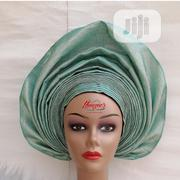 Mint Green Autogele Made From Two Toned Aso Oke | Clothing for sale in Lagos State, Alimosho