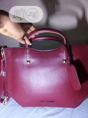 Ladies Hand Bag,Wine Color.Pure Leather,Made In Italy.Trendy. | Bags for sale in Abuja (FCT) State, Lugbe District