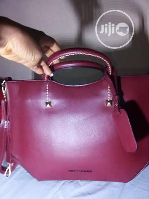 Ladies Hand Bag,Wine Color.Pure Leather,Made In Italy.Trendy.