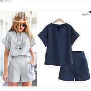 Women T-Shirt Pants 2piece Set Summer Female Office Suit.   Clothing for sale in Lagos State, Ajah