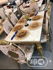 Golden Colour Marble Dining | Furniture for sale in Abuja (FCT) State, Maitama