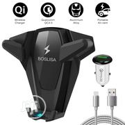 Boslisa Wireless Fast Charger Car Mount,Air Vent Phone Holder | Vehicle Parts & Accessories for sale in Lagos State, Ikeja