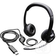 Logitech USB Computer Headset With Mic (H390) | Headphones for sale in Lagos State, Ikeja
