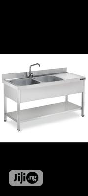 Sink Table With Bench | Restaurant & Catering Equipment for sale in Abuja (FCT) State, Wuse