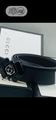 Original Gucci Leather Belt Black | Clothing Accessories for sale in Lagos State, Surulere