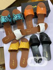 New Female Skin Flat Heel Slippers | Shoes for sale in Lagos State, Victoria Island