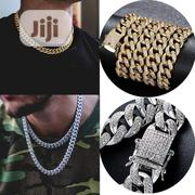 Fashion Hip Hop Cuban Links Chains Silver Necklace Male Gold Plated | Jewelry for sale in Lagos State, Lagos Mainland