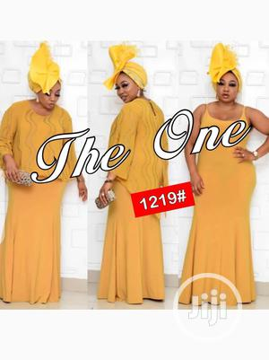 New Quality Female Yellow Long Gown