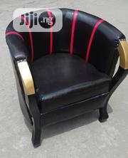 Single Black Sofa With Animal Skin Leather | Furniture for sale in Lagos State, Ojo