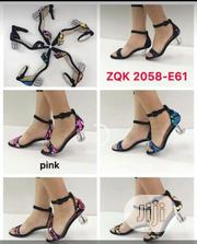Ladies High Heeled Sandal Shoe From Turkey; Pink And Yellow Available | Shoes for sale in Lagos State, Ikeja
