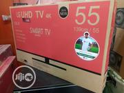 Brand New LG UHD 4K Smart Internet 55inch Free Bracket 2years Warranty | TV & DVD Equipment for sale in Lagos State, Ojo