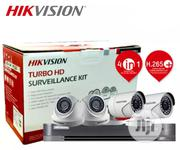 HIKVISION 2MP 4 Channel 4 Cameras TURBO HD With Accessories Kit | Security & Surveillance for sale in Lagos State, Ikeja