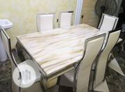 Brand New Classy Marble Dining Table By-6 | Furniture for sale in Lagos State, Amuwo-Odofin
