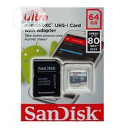 Sandisk Ultra 64GB Memory Card With Camera Adapter (80mb/S) | Accessories for Mobile Phones & Tablets for sale in Lagos State, Ikeja