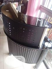 Strong Quality And Durable Reception Table With Glass Top | Furniture for sale in Edo State, Benin City