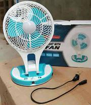 Mini Portable Rechargeable Fan With LED Light Desk Lamp | Home Appliances for sale in Lagos State, Ikeja