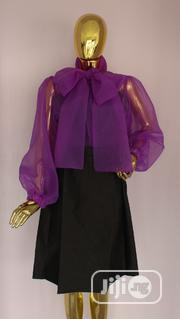 Big Bow Organza Shirt | Clothing for sale in Rivers State, Port-Harcourt