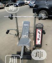 Weight Bench With 50kg Barbell | Sports Equipment for sale in Cross River State, Boki