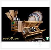 Foldable Bamboo Dish Rack Plus Utensil | Kitchen & Dining for sale in Abuja (FCT) State, Apo District