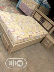 4x6 Bedframe and Mouka Mattress | Furniture for sale in Lagos State, Ojo