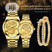 Fngeen 4 In 1 FNGEEN Luxury Luminous Couple Dragon Watch Bracelets | Jewelry for sale in Lagos State, Lekki Phase 1