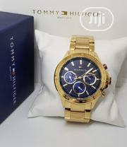 New Tommy Hilfiger Gold Unisex Wristwatch / Wrist Watch | Watches for sale in Lagos State, Ikeja