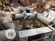 Royal 7 Seater Sofa Couch With Centre Table and Two Side Stool | Furniture for sale in Lagos State, Ojo