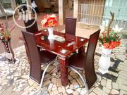 4fit Padded Dinning Table With 4 Chairs   Furniture for sale in Lagos State, Ifako-Ijaiye