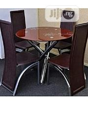 Round Dinning Table With 4 Chairs   Furniture for sale in Lagos State, Ifako-Ijaiye