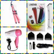 Nova Foldable Dryer, Hair Straightener and Professional Clippers | Tools & Accessories for sale in Lagos State, Lagos Island