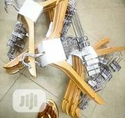 Wooden Hangers With Clips (6500/10pcs) | Home Accessories for sale in Lagos State, Lekki Phase 2