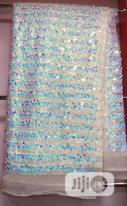 Diamond Stone White Net Lace   Clothing for sale in Lagos State, Ojo