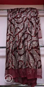 Quality Red Nd Silver Sequence Lace | Clothing for sale in Lagos State, Ojo