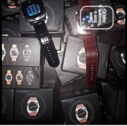 Bluetooth GSM Smartwatch With Leather Straps.   Smart Watches & Trackers for sale in Lagos State, Ikeja