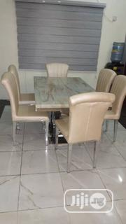 Classic Marble Dining With 6 Chairs   Furniture for sale in Lagos State, Lekki Phase 1