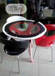 High Quality Glass Round Table With Fibre Chair | Furniture for sale in Lagos State, Lekki Phase 1