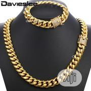 Pure Steel Cuban Neck and Handchain Available as Seen Displayed | Jewelry for sale in Lagos State, Lagos Island