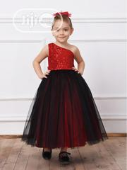 Turkey Floor Length Girls Gown - Red | Children's Clothing for sale in Lagos State, Isolo