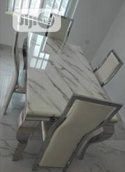 Marble Dining Table With 4 Chairs   Furniture for sale in Lagos State, Ojo